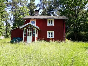 Das rote Häusschen im Wald - unser Domizil für die nächsten Tage