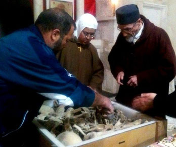 Here we are looking at the relics of Saint Elian of Homs