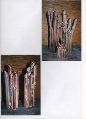 Vases à fûts multiples 25-30-50 cm - Sylvie Ruiz Foucher  -