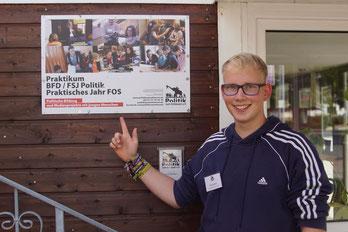 Politik zum Anfassen Nick Nolte BFD Bundesfreiwilligendienst / BFD / FÖJ / FSJ