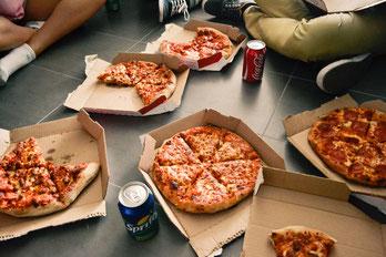 Verschiedene Pizza sorten