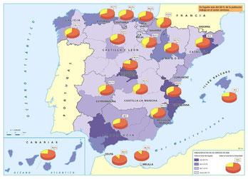 Sectores de actividad económica en España.