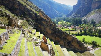 Ollantaytambo, ruines incas, Cusco, Pérou