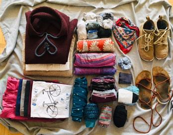 Minimalistisch packen: Viel Stauraum haben wir nicht