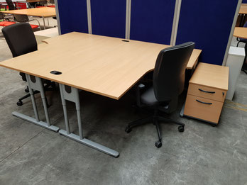 Schreibtisch Schreibtische gebraucht Assmann Buche Büromöbel Bürostühle