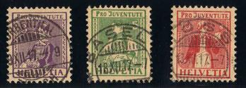 J 7 - 9    Mi.Nr.: 133 - 135