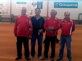 Maurice, Gilles, Marc et Laurent.