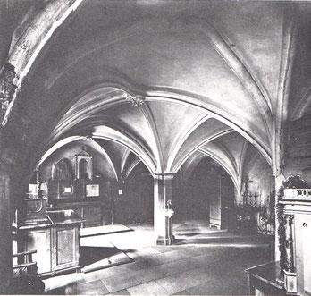 Sakristei; gesehen nach Süd-Westen (um 1900)