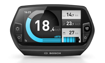 Das Bosch Nyon gibt Auskunft über die wichtigsten Fahrdaten und erlaubt die Auswahl eines Fahrmodus