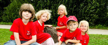 Kinder in einer NAJU-Kindergruppe