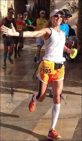 Manuela beim Mallorca-Marathon
