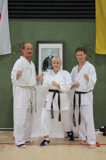 Friederike Zeifang und Carsten Zeifang mit Seiji Nishimura (7. Dan) in Bad Salzuflen 2013