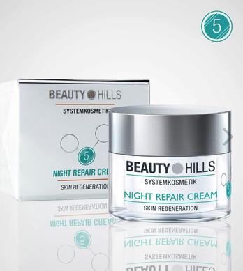 Beauty Hills, Kosmetik, Ceramide zur Erhaltung der Hautbarriere, Night Repair Cream