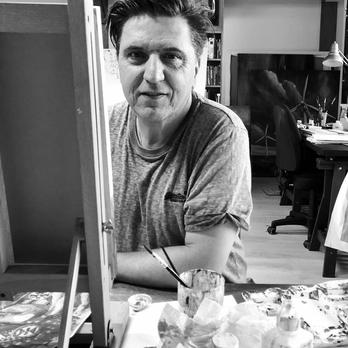 Martin Sullivan am Arbeiten