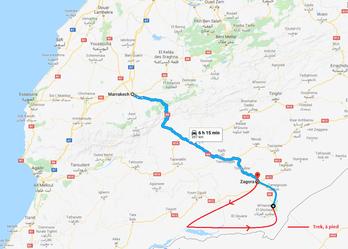 Traversée du désert marocain, trek et voyage Maroc