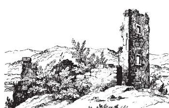 Alt-Thurberg; Zeichnung von J.J. Rietmann 1838