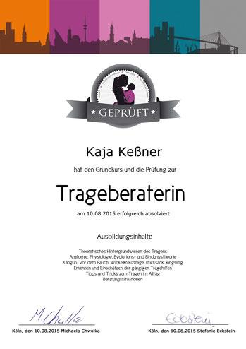 Geprüfte Trageberaterin der Trageschule Hamburg