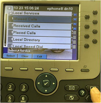 "【Dial (make a call)】  Press ""Directory Key"" Image"