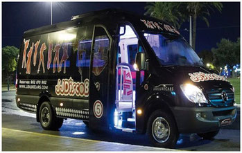 disco bus sevilla negro