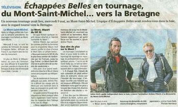 article Ouest-France Echappées Belles au Mont