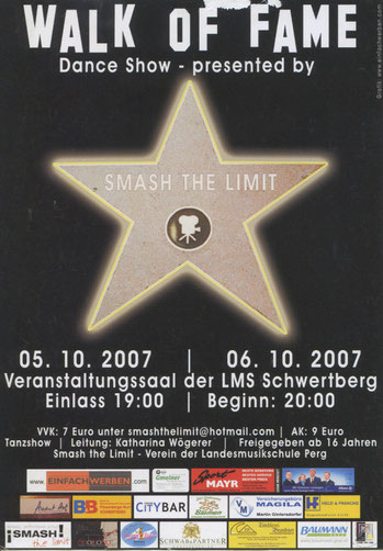 Walk of Fame Flyer 2007