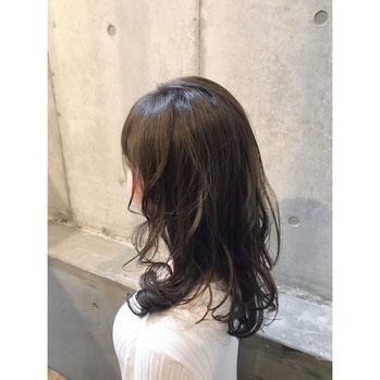 横浜・石川町、美容室Grantus,ヘアスタイル、パーマ、ロレアル ロング カラー シースルーカラー
