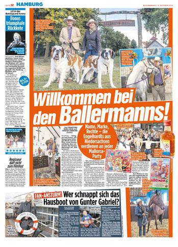 """Annette und André Engelhardt - """"Die Ballermanns"""", BILD 05.10.2018"""