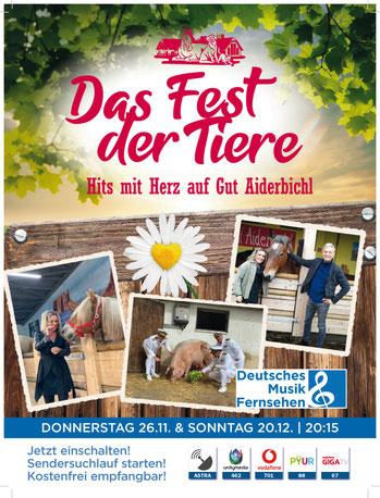 """Bei annette und André engelhardt auf der Ballermann ranch wurde die Sendung """"Das Fest der Tiere- Hits mit Herz auf Gut Aiderbichl"""" aufgezeichnet.goere"""