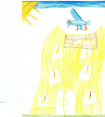 Unser Kinderhaus, gemalt von Marlene 4 Jahre