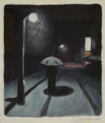 philipp christoph haas | [ohne titel] aus der serie 'nachtRaeume', akryl auf leinwand, 43x25cm, 2013