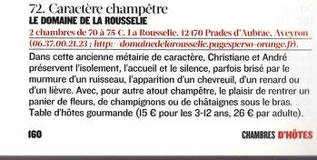 Le Domaine de la Rousselie dans le Figaro Magazine
