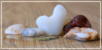 découverte de beaux cailloux de silex en bordure de plage