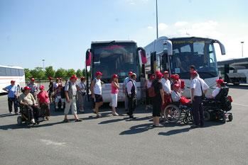 Voyage organisé par l'association La Myopathie A Tout Cœur