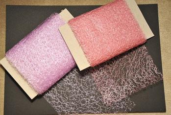 (Vlies?) Band in zwei Farben, 12cm breit und 5m lang, je 1€