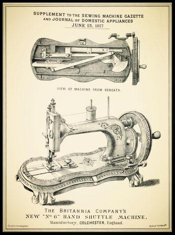 June 1877 - New No. 6 Hand Shuttle Machine