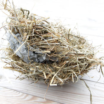 DIY Easter nest made with PASiNGA from concrete and hay
