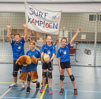 Miniteam N4-2 met vlnr:  Rick Prins, Jamie Visia, Marit Horneman, Janine Brugge.