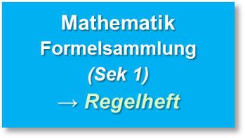 Formelsammlung - Regelheft