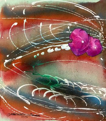 「花の魂」色紙大