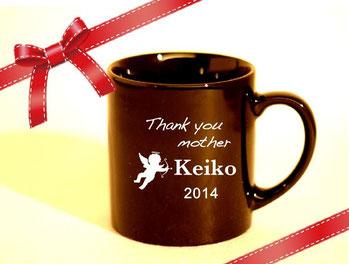 名入れマグカップ(黒) ¥3,200