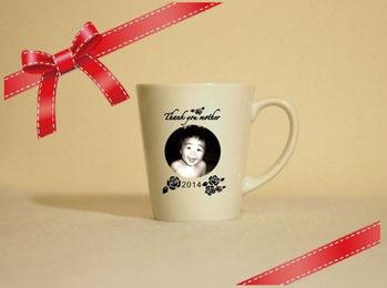 名入れマグカップ(白) 写真彫刻 ¥3,500