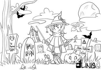 Laden Sie sich meine illustrierte kostenlose Malvorlage zum Ausmalen runter.