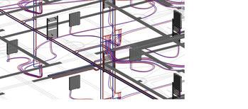 Réseau chauffage dessiné et dimensionné avec REVIT MEP