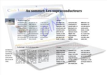 Newsletter sur les supraconducteurs
