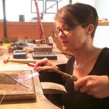 Silke Erdtmann im Atelier