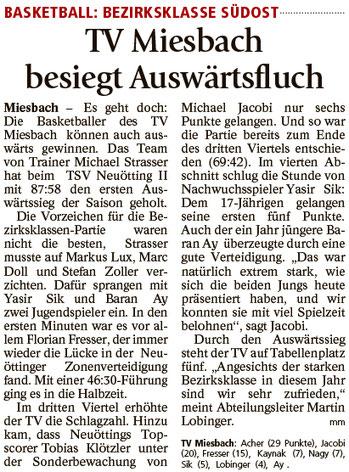 Bericht im Miesbacher Merkur am 7.2.2017 - Zum Vergrößern klicken