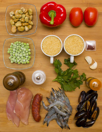 Paella Originalrezept Paella spanisch selber machen original valencia