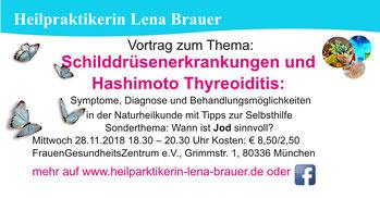 Vortrag Hashimoto Thyreoiditis Naturheilkunde Therapie  München Heilpraktikerin Lena Brauer