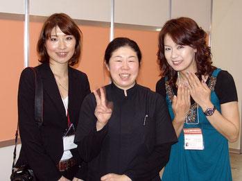 2009ネイルエキスポでは田賀先生のclassroomのモデルも務めさせて頂きました。私も一生懸命、楽しんで!学ばせて頂いております