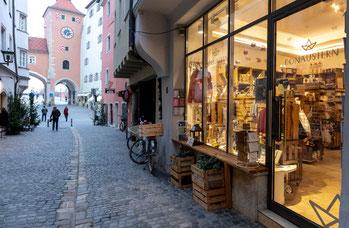 Der Donaustern mitten in der Altstadt von Regensburg